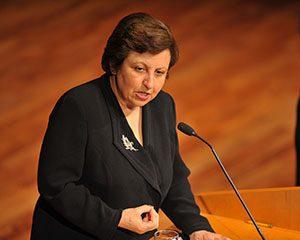 Nobel Peace Prize winner Shirin Ebadi