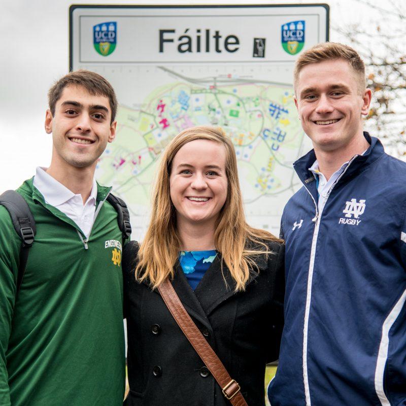 Notre Dame undergrads in Ireland