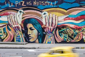 """Graffiti in Bogota Colombia, translates to: """"Peace is Ours."""""""