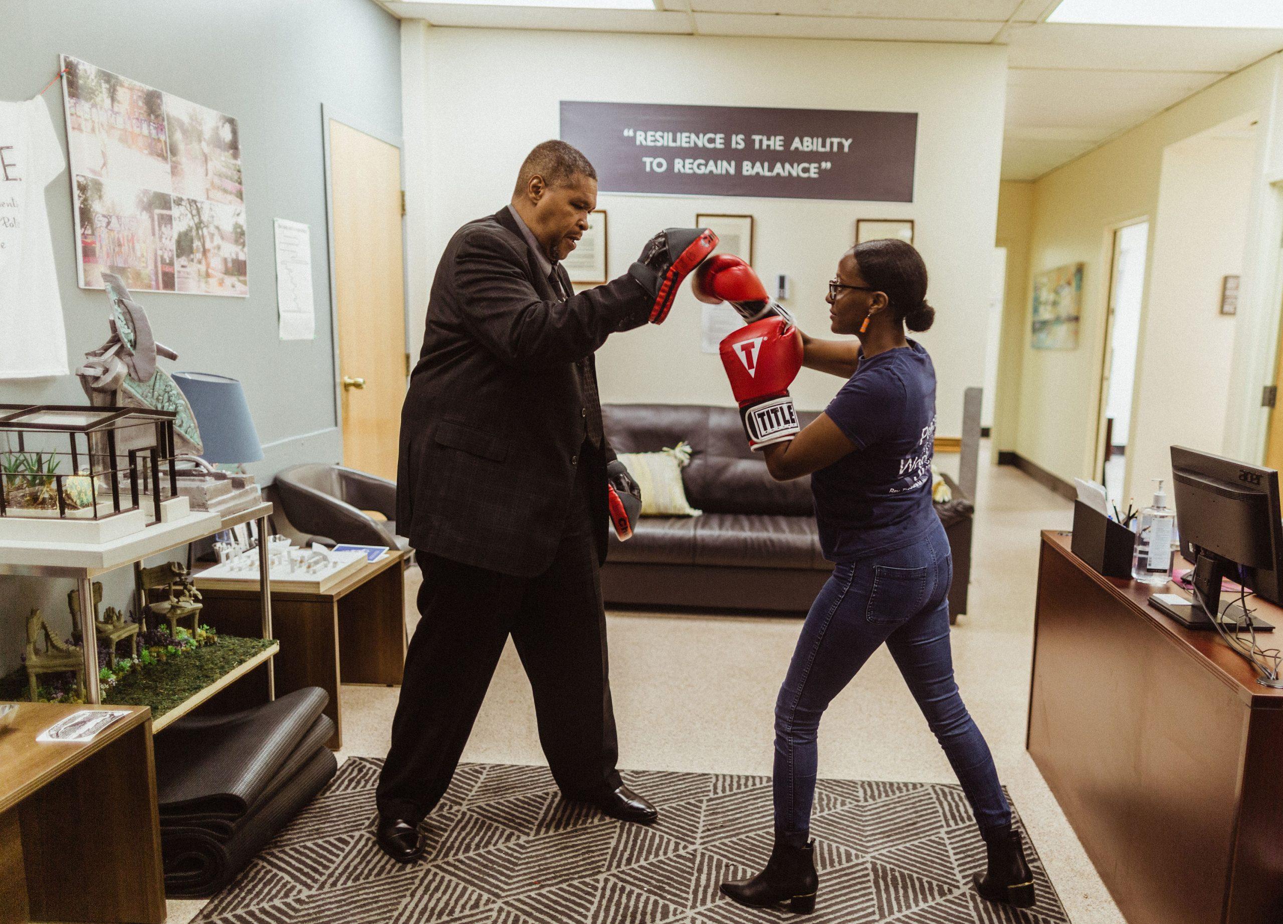 Helina Haile boxing at CTJC