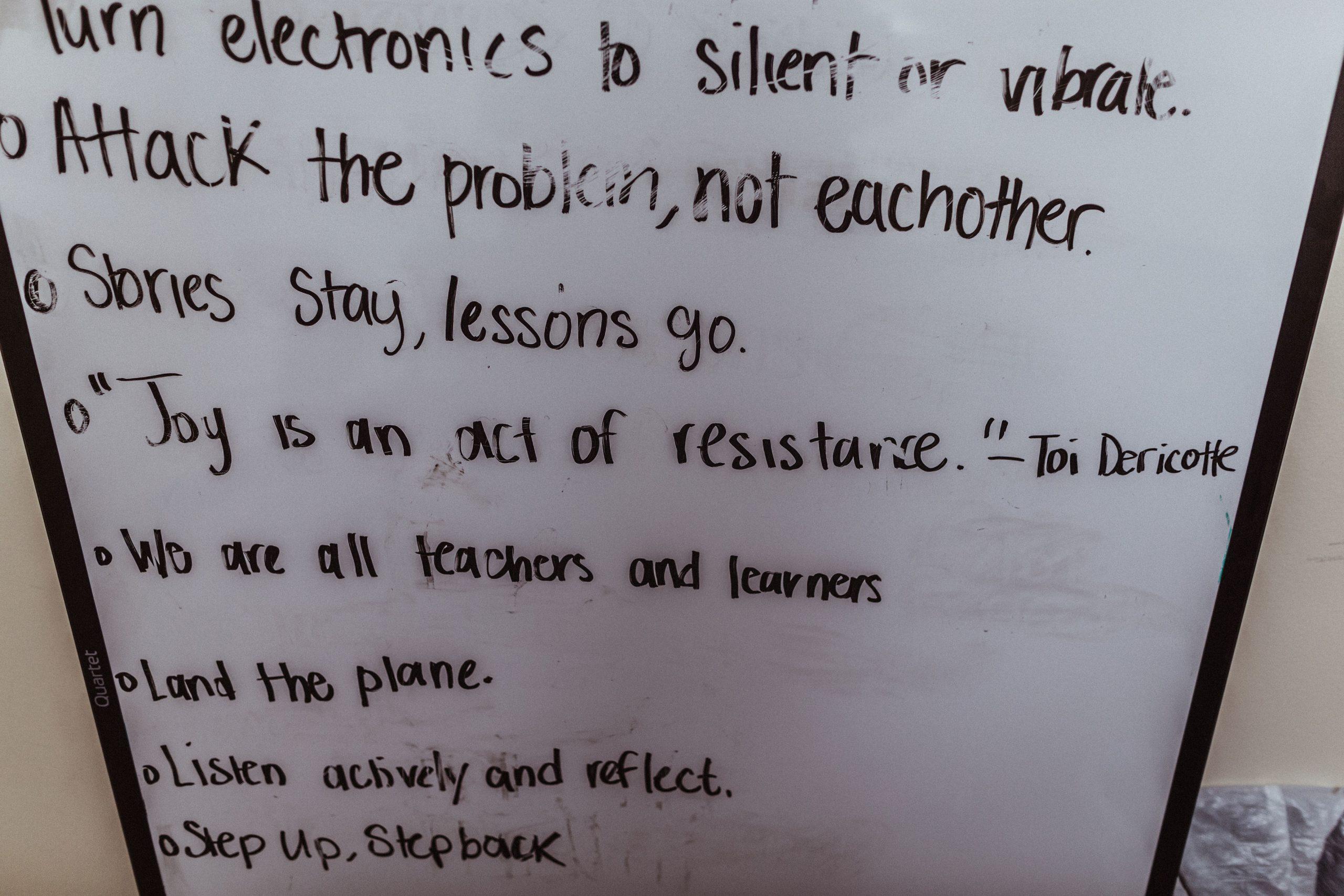 white board at CTJC