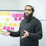 Ahmed Makki presenting in i-Lab