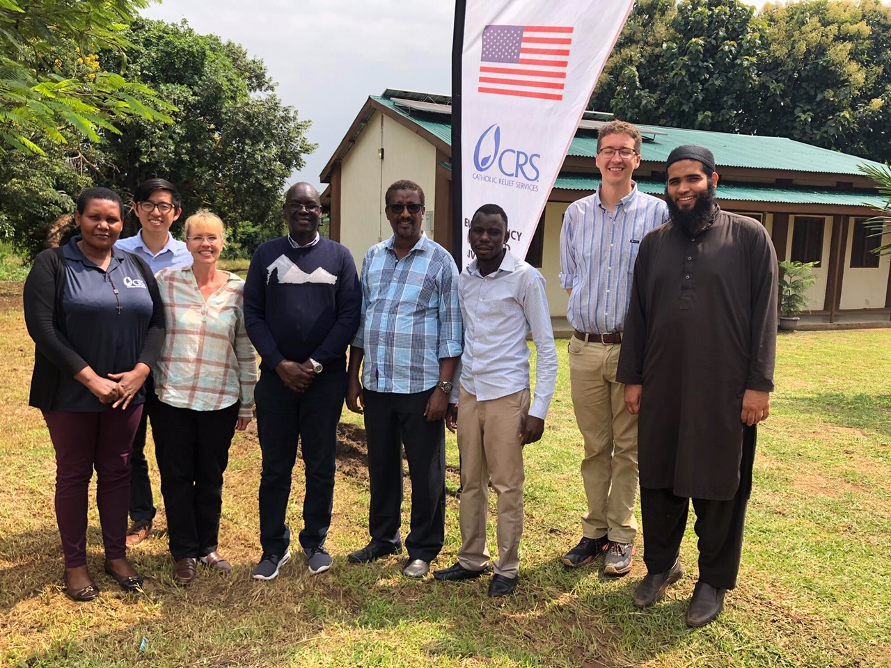 Ahmed Makki with Catholic Relief Services team