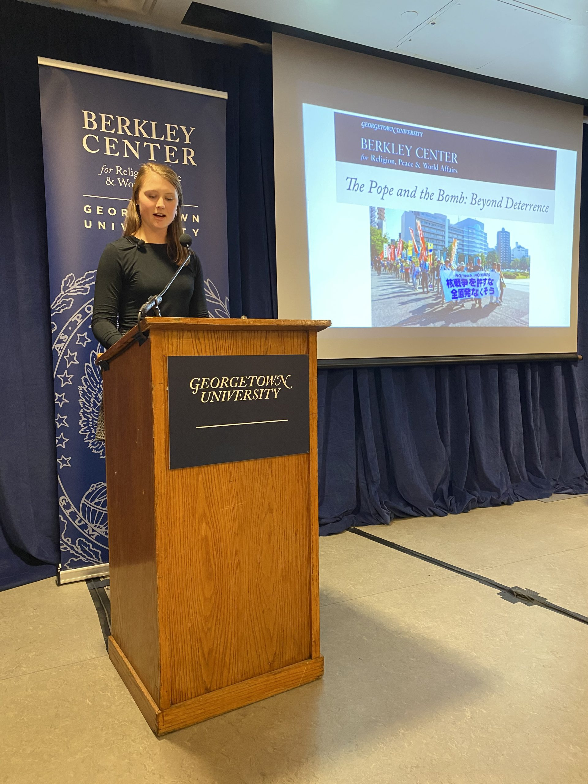 Erin Connolly presenting at Georgetown conference