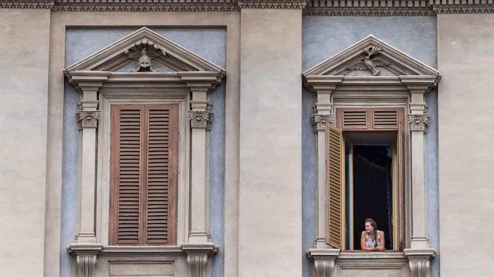 photo of open window in Italy