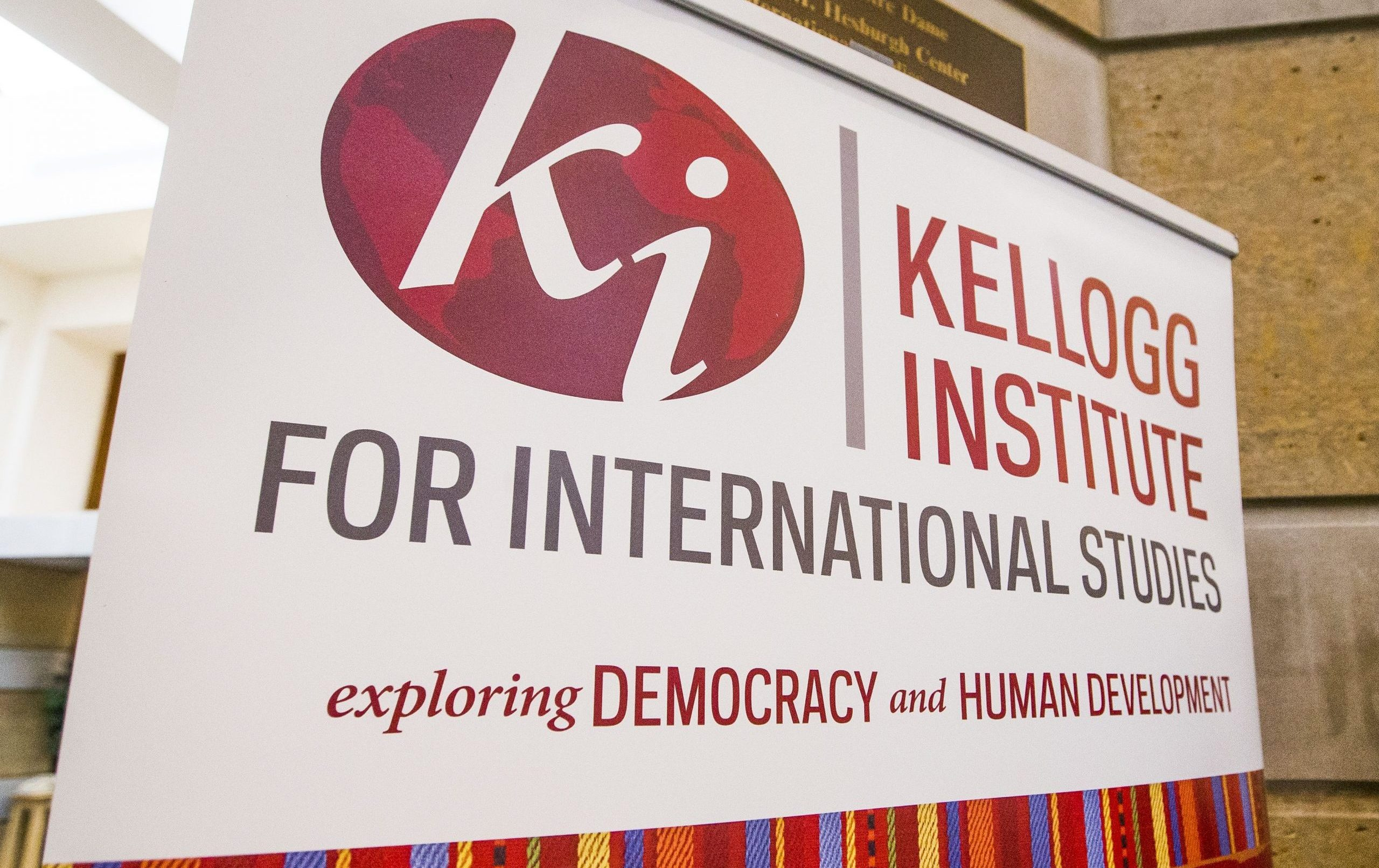 Kellogg Institute logo on a banner
