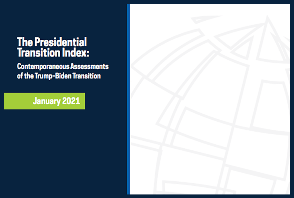 Cover image: The Presidential Transition Index: Contemporaneous Assessments of the Trump-Biden Transition