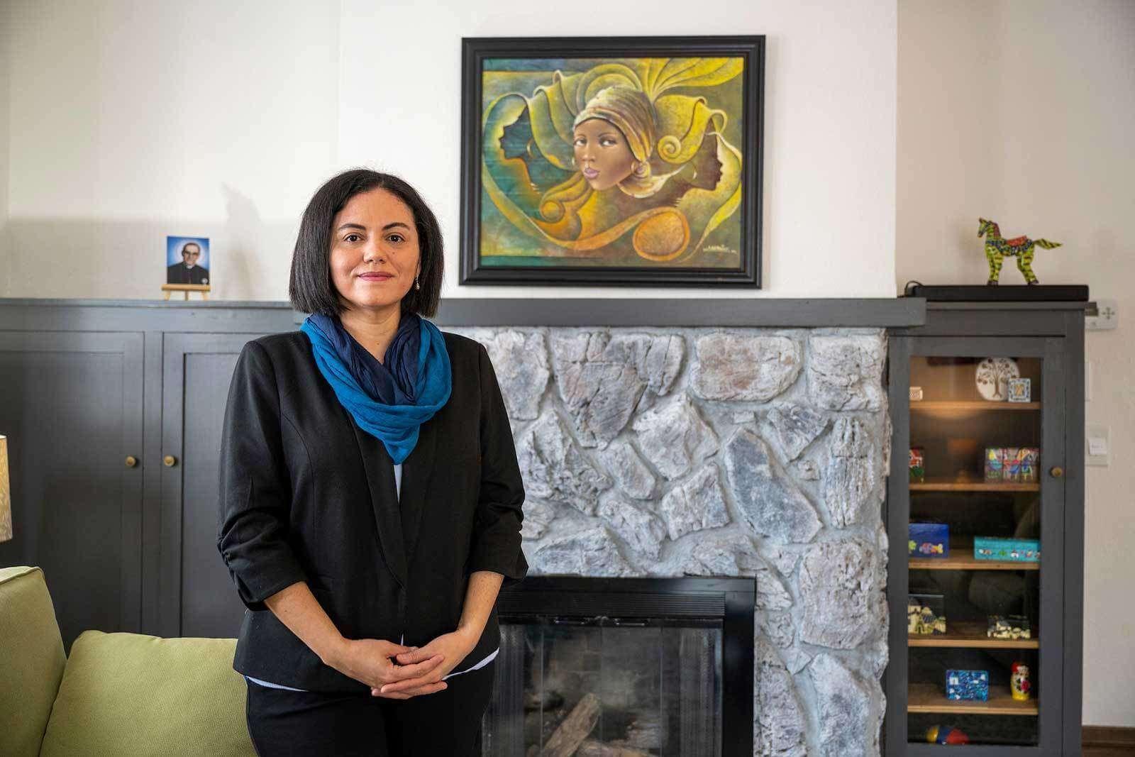 Professor Abby Córdova in her home.