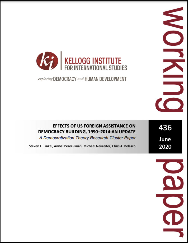 Cover image: Effects of Us Foreign Assistance on Democracy Building, 1990–2014: An Update