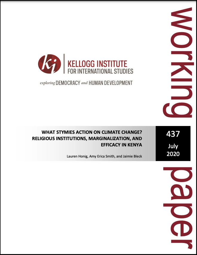 Cover image: What Stymies Action on Climate Change? Religious Institutions, Marginalization, and Efficacy in Kenya?