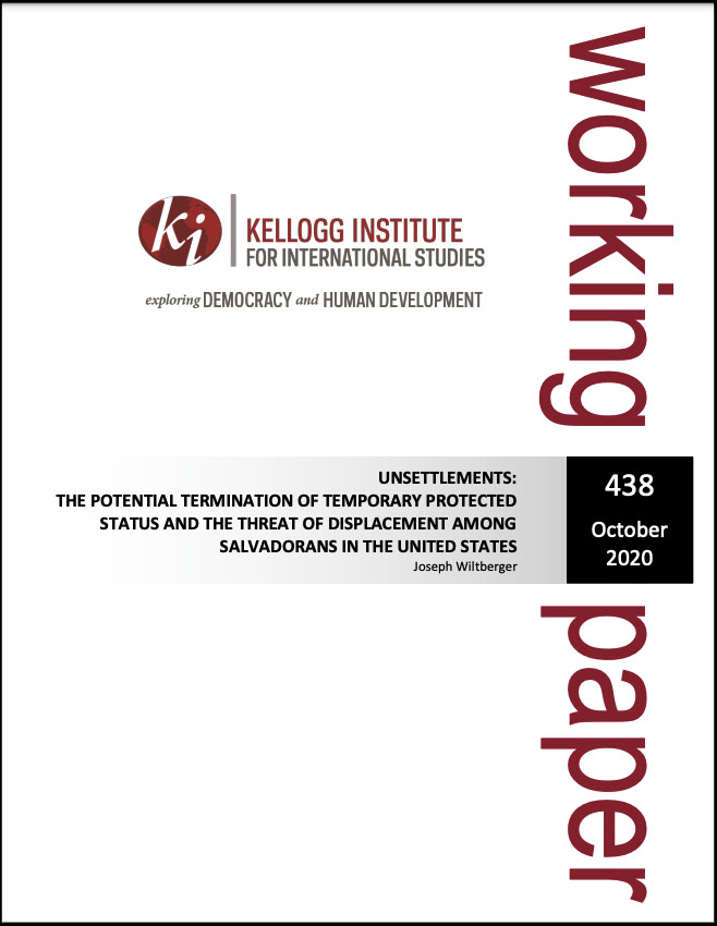 Cover image: Unsettlements: The Potential Termination of Temporary Protected Status and The Threat of Displacement Among Salvadorans in The United States