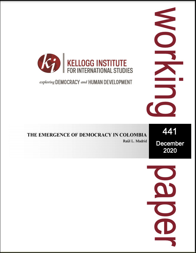 Cover image: The Emergence of Democracy in Colombia