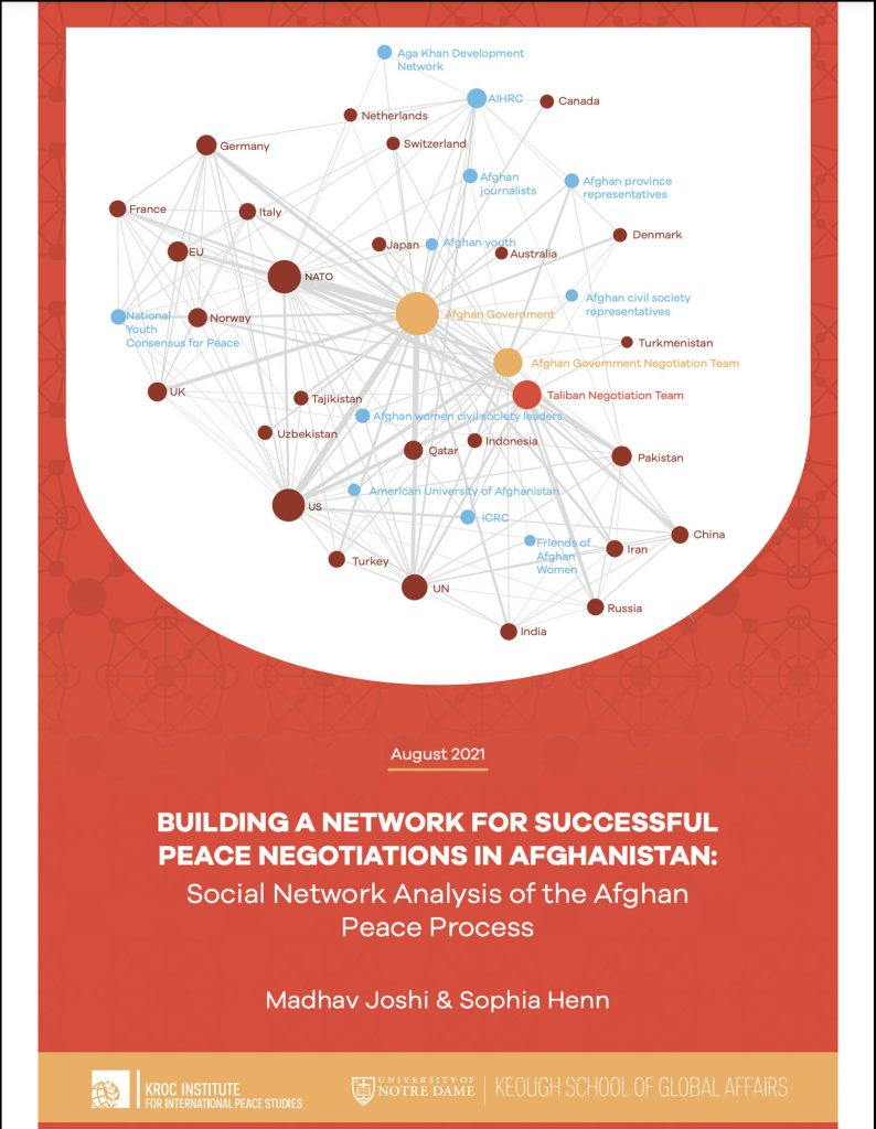 Cover image: Building a Network for Successful Peace Negotiations in Afghanistan: Social Network Analysis of the Afghan Peace Process
